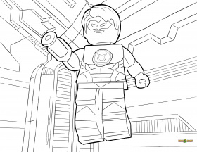 LEGO DC Universe Super Heroes Coloring Pages : Free Printable LEGO ...