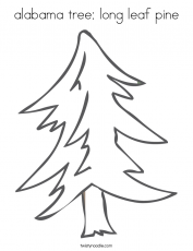 alabama state tree coloring page