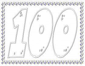 related coloring pages 100th day of school worksheets and printouts