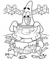 Spongebob And Patrick Christmas Coloring Page