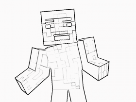 Printable Minecraft Steve Coloring Page