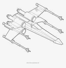 Transparent X Wing Png - Coloring Star Wars X Wing, Png Download ,  Transparent Png Image - PNGitem