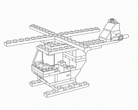 Lego Helicopter Coloring Pages - High Quality Coloring Pages