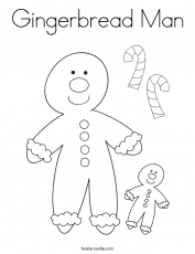 Gingerbread Man Coloring Page - Twisty Noodle