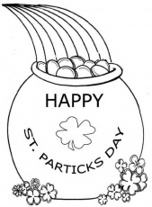 Celebrating St Patricks Day with a Pot of Gold Coloring Page ...