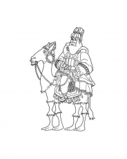 THREE WISE MEN coloring pages - Wise Men with Infant Jesus
