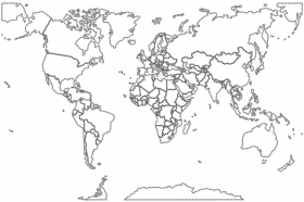 Map Of The World With Countries Coloring Page - High Quality ...