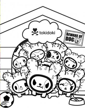 tokidoki coloring page