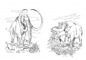 Woolly mammoth coloring page free printable coloring for Wooly mammoth coloring page