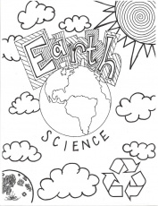 Earth Science Coloring Page / Cover page. Middle School | Teaching ...