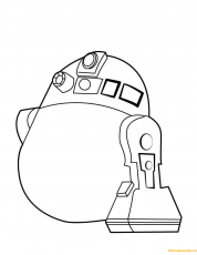 R2 D2 Coloring Page - Free Coloring Pages Online