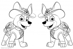 Free Printable Coloring Page Of Tracker From Paw Patrol Coloring Home