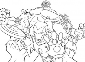 Superhero Avengers Colouring Pages Printable Kids Boys - Colorine ...