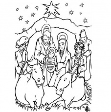 Christ Birth Coloring Pages Printables - Coloring Pages For All Ages