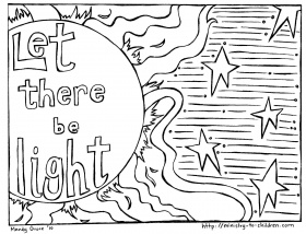 God Made The Sun Moon And Stars Coloring Pages
