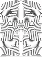 20 Free Pictures for: Geometric Coloring Pages. Temoon.us