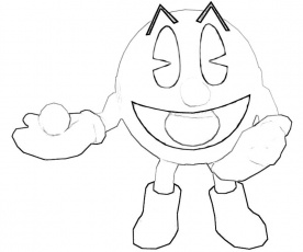 Pacman coloring pages to download and print for free