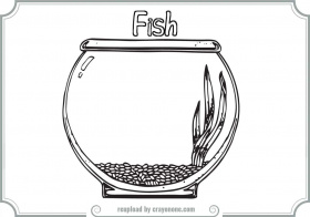 Empty Fish Bowl Coloring Pages | Printable Coloring Pages