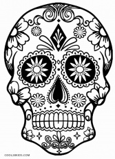 Amazing of Simple Sugar Skull Coloring Pages Have Skull C #3731