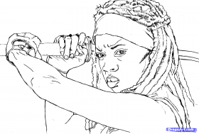 12 Free Walking Dead Coloring Pages + 12 Colorable Character ...