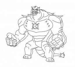 Ben 10 Ultimate Humungousaur - Coloring Pages for Kids and for Adults