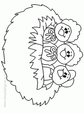 10 Pics of Owl Nest Coloring Page - Owl Coloring Page, Owl ...