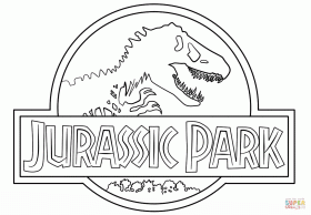 Jurassic Park Logo coloring page | Free Printable Coloring Pages