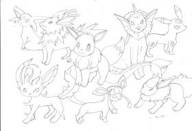 Pin Eevee Evolution Page Credited