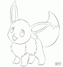 Eevee coloring page | Free Printable Coloring Pages