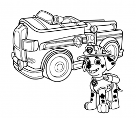 Paw Patrol Coloring Page