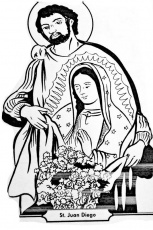 Saint Juan Diego and Virgin of Guadalupe coloring pages ...
