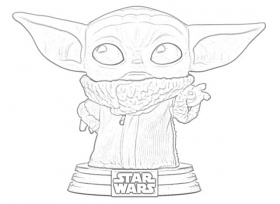 The Holiday Site: Coloring Pages of Baby Yoda of The Mandalorian