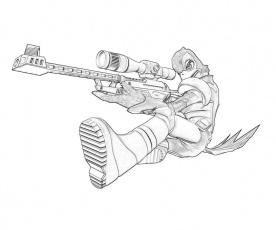 Sniper rifle coloring pages