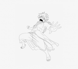 Natsu Dragneel Coloring Pages - Library Transparent PNG - 494x650 ...