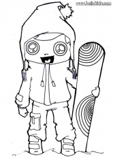 Snowboarding girl coloring pages - Hellokids.com
