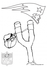 New England Patriots - Coloring Pages for Kids and for Adults
