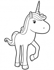 te baby unicorn Colouring Pages