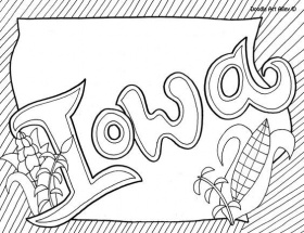 Iowa Coloring Page by Doodle Art Alley | USA Coloring Pages ...