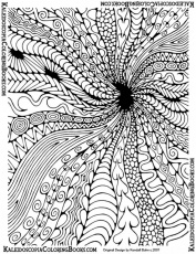 Abstract Printable Difficult Coloring Page