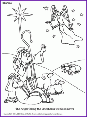 Best Coloring Shepherds Come To See Baby Jesus Page Pages Coloring Home