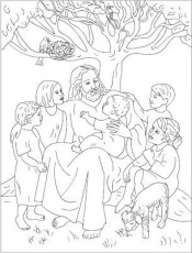 Jesus Loves The Little Children - Coloring Pages for Kids and for ...