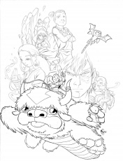 Avatar The Last Airbender Color Page  Coloring Pages For Kids