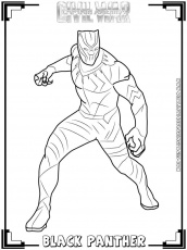 Captain America:Civil War Printable Coloring Pages | Realistic ... Black  Panther ...