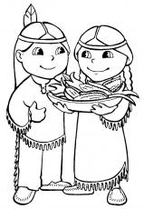 native americans at Thanksgiving coloring pages
