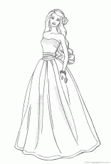 Barbie Fashion Coloring Pages Wedding - Coloring Pages For All Ages