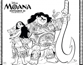 Free Moana Coloring Pages: Download Printables Here #Moana | Lady ...