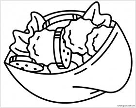 Israeli Falafel Coloring Page - Free Coloring Pages Online