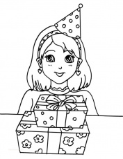 coloring pages : Birthday Coloring Sheets Fresh Preety Girl Birthday Party Coloring  Pages Netart Birthday Coloring Sheets ~ peak