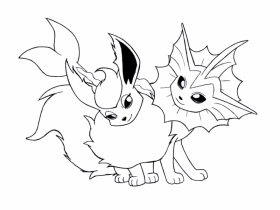 Eevee Evolutions - Coloring Pages for Kids and for Adults