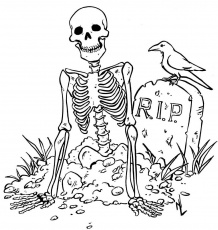 skeleton coloring pages - Free Large Images
